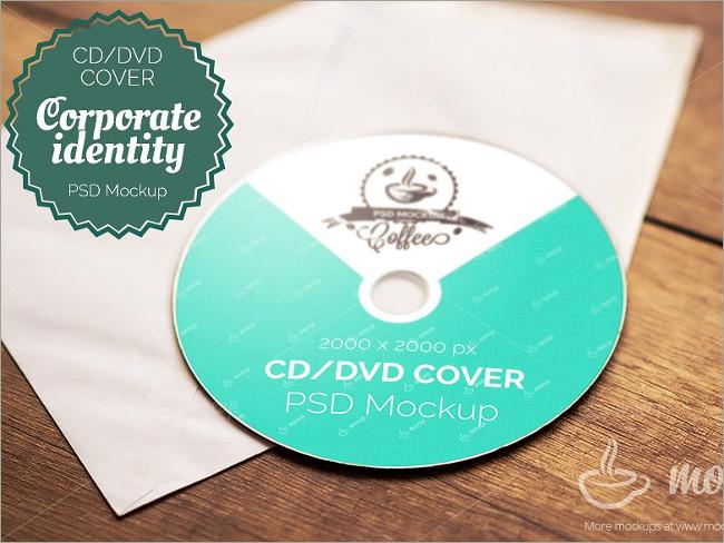 photorealistic cd cover mockup