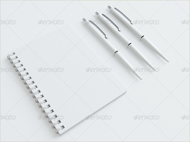 plain stationary mockup