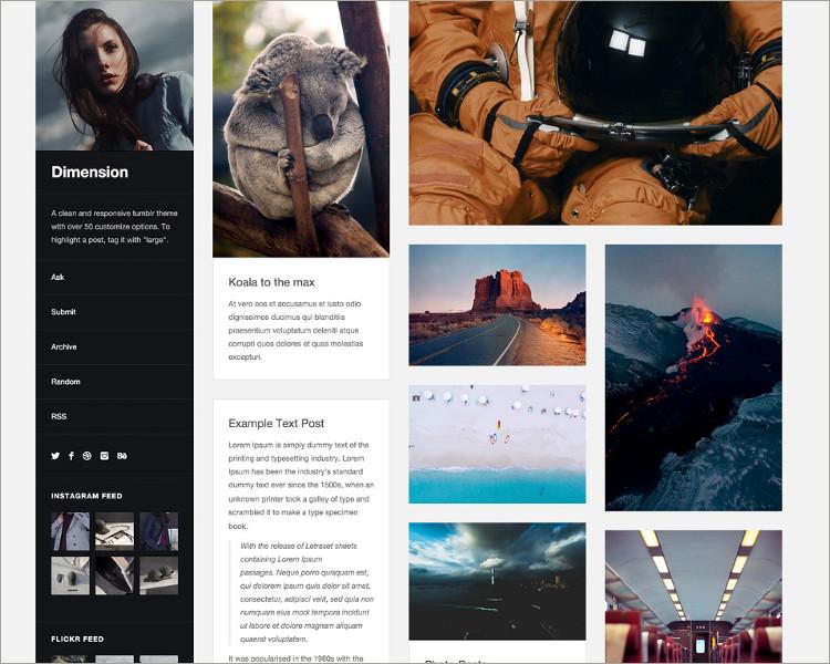 portfolio tumblr theme