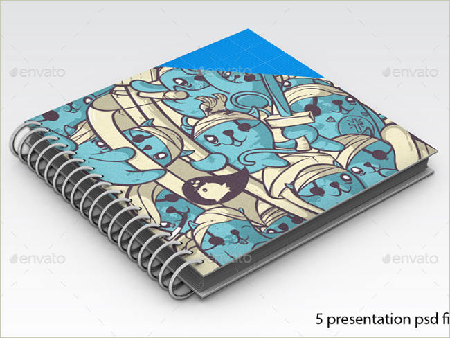 psd sketch book mockup