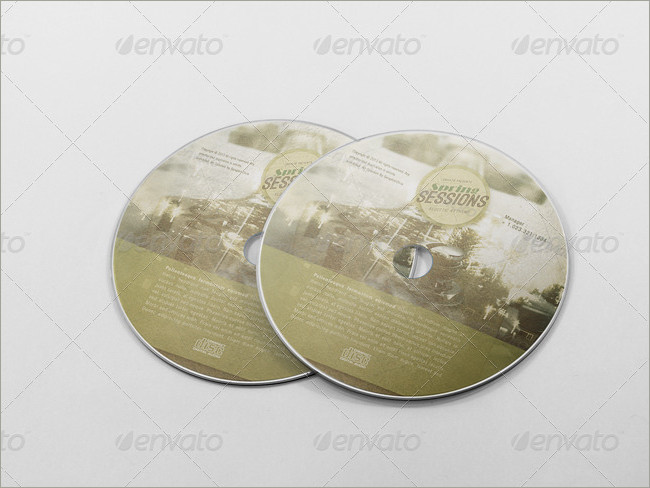 realistic cd cover mockups