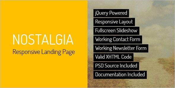 responsive landing page theme