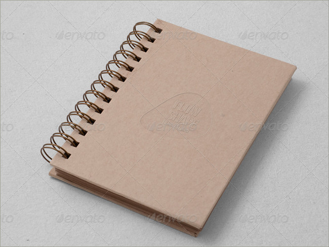 sample sketch book mockup