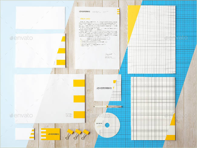 sample stationary mockup
