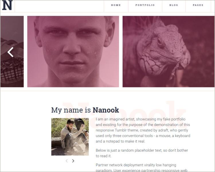 simple tumblr theme