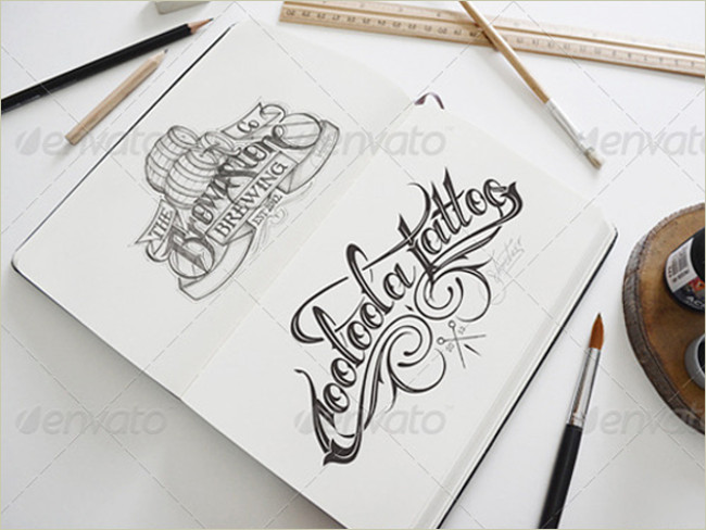 sketch book and pencil