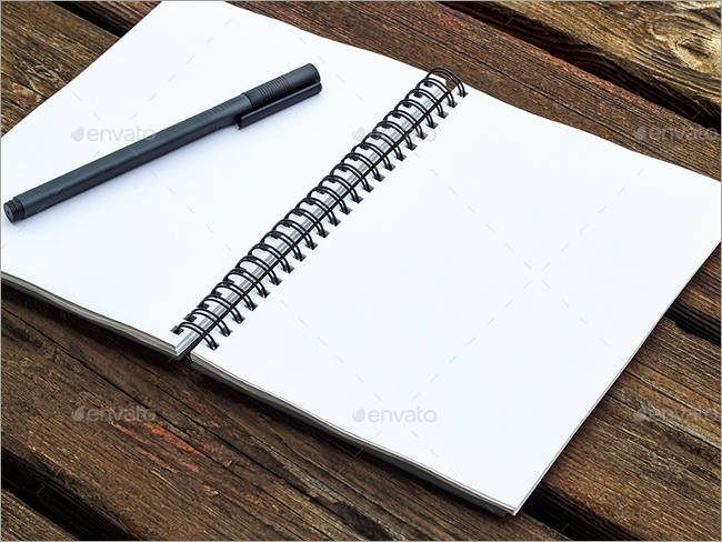sketch book design template