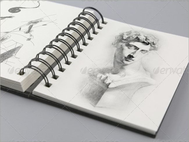 sketch book mockup album