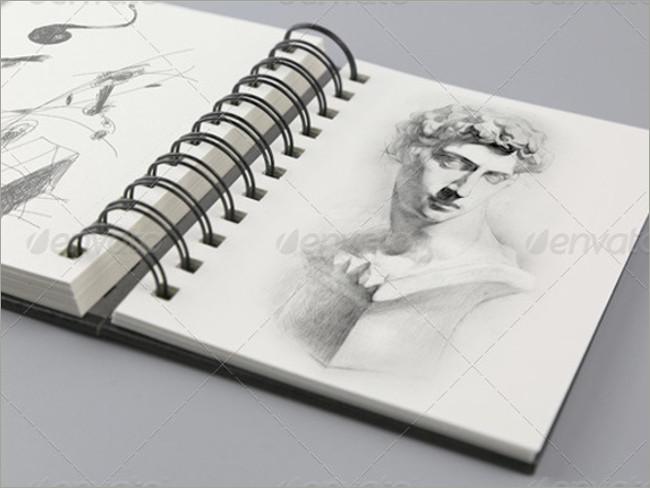 sketch book mockup album