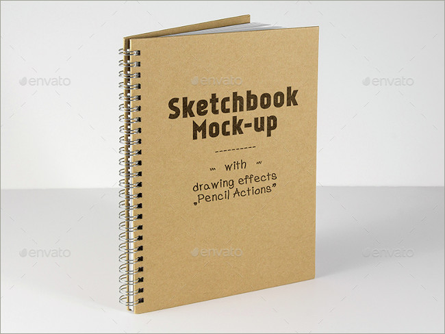 sketch book mockup design mockup