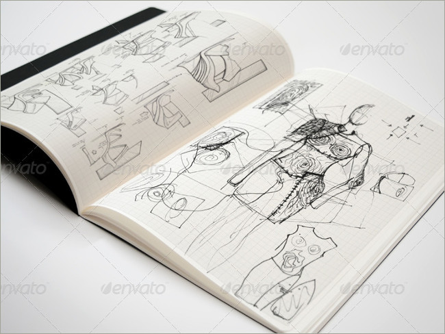 sketch book mockup image