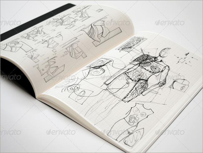 sketch book mockup image
