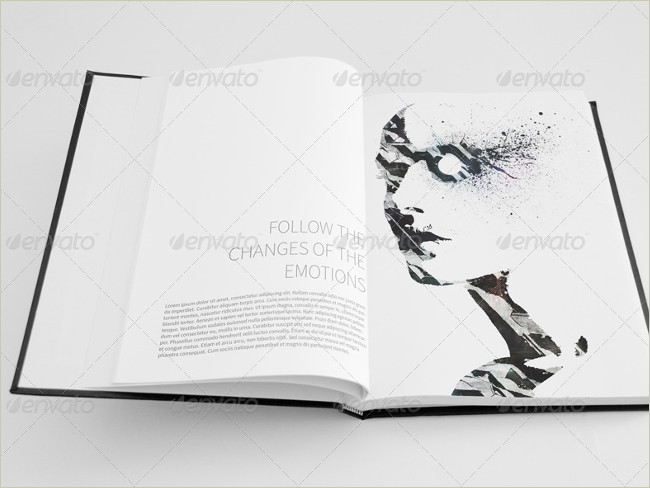 sketch book mockup set