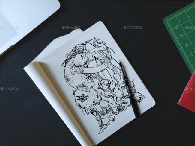sketch on sketch book