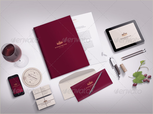 stationary items with wine