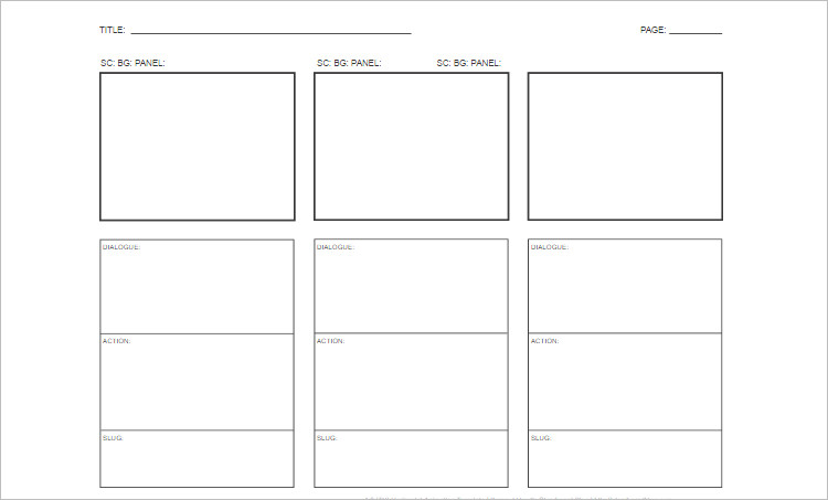 story board templates word Form