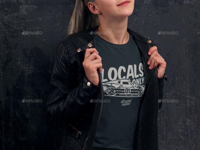 t shirt branding mockup