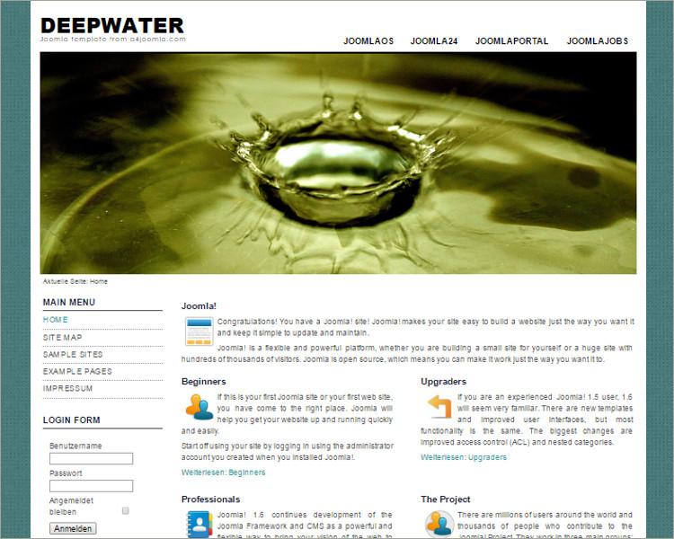 water joomla template