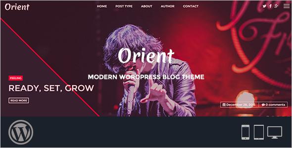 3 Column Modern WordPress Template