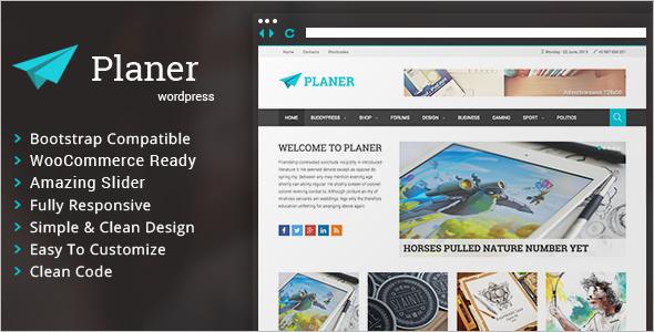 3 Column Planer WordPress Template