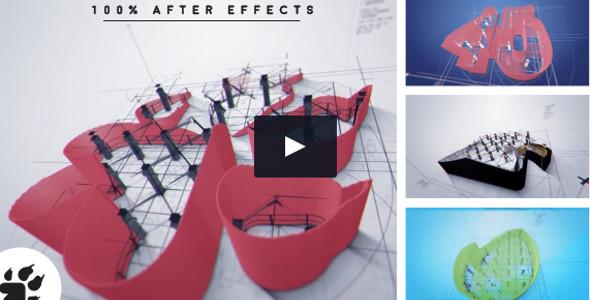 3D Architect Logo Infographics Video Template