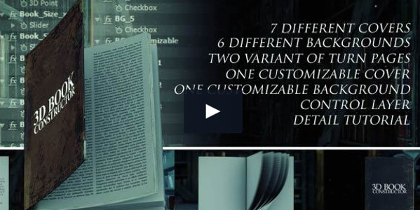 3D Book Constructor Easy Customization Video Template