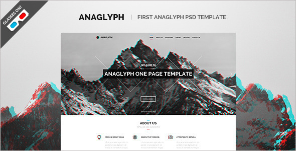3D Business Agency WordPress Template