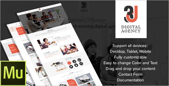 3D Digital Agency WordPress Template