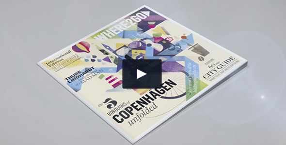 3D Magazine Made in After Effects Video