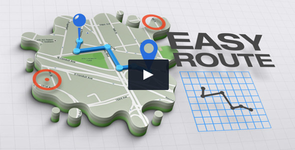 3D Maps Infographics Graphic Video Template