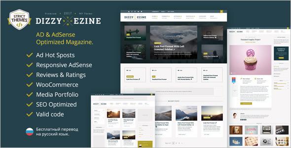 3D News Editorial WordPress Template