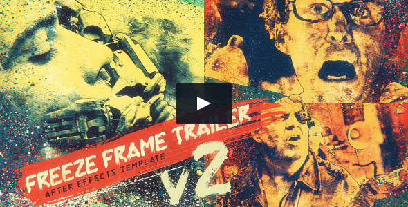 3D Parallax Freeze Frame Grunge Trailer Video