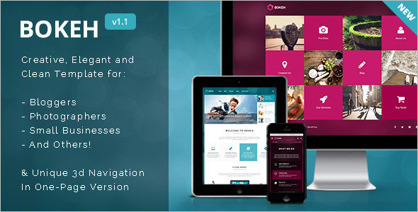 3D Portfolio WordPress Template