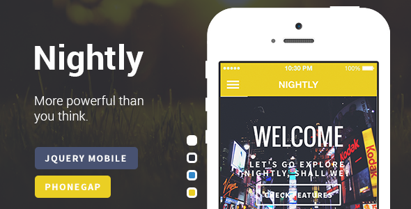 A Bold jQuery Mobile Template