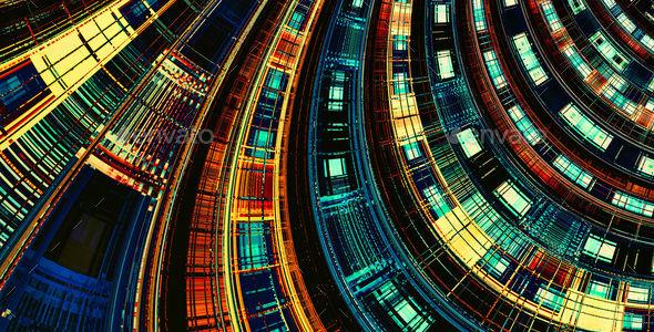 Abstract Digital Futuristic Dark Banner