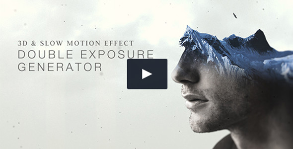 Abstract Double Exposure Generator Video Template