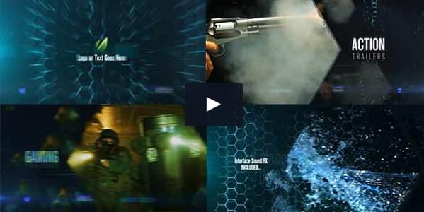 Abstract Hexagon Promo Video Tutorial Templates