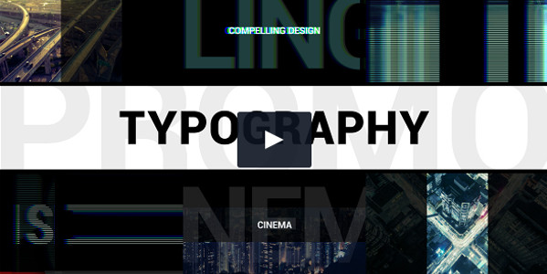 Abstract Typography Promo template