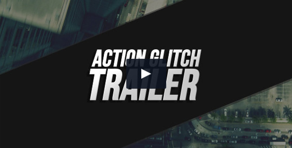 Action Glitch Trailer 3D Text Video