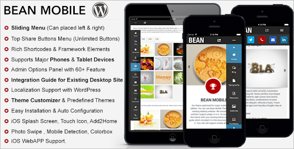 Advanced Mobile WordPress Template