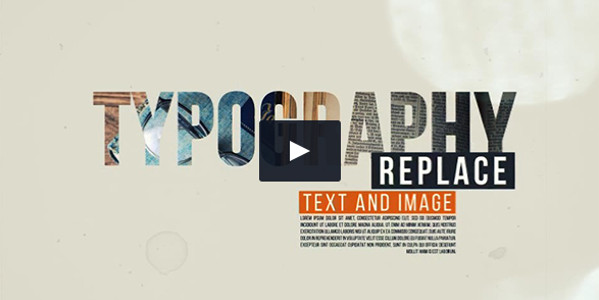 After Effects Typography Video Template