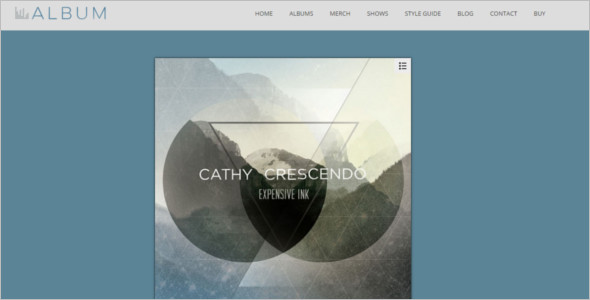 Album Podcast WordPress Template