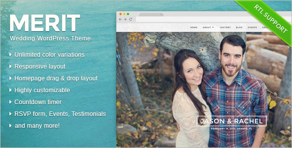 Amazing Wedding WordPress Template