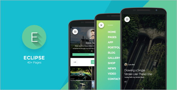 Andriod Mobile WordPress Template