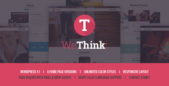 Animated Multi Page WordPress Template