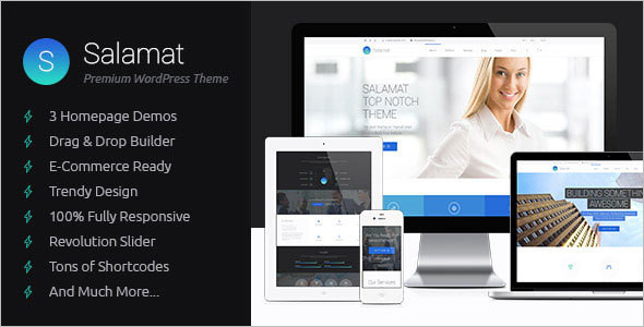 Animated Page Builder WordPress Template