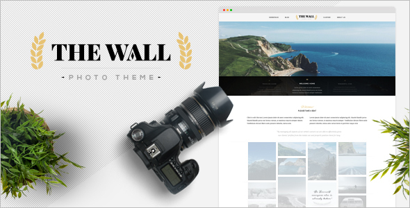Animated Photography WordPress Template