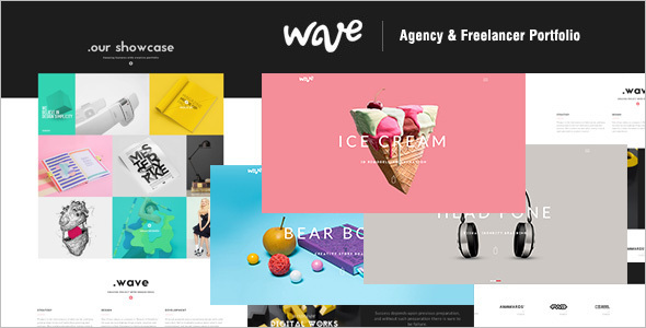 Animated Portfolio WordPress Template