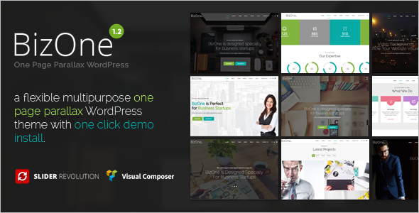 Animation Single Page WordPress Template