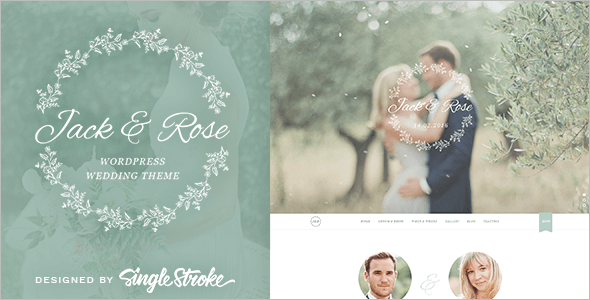 Animation Wedding WordPress Template